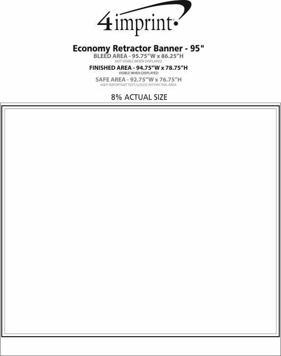 Imprint Area of Economy Retractor Banner Display - 94-3/4""