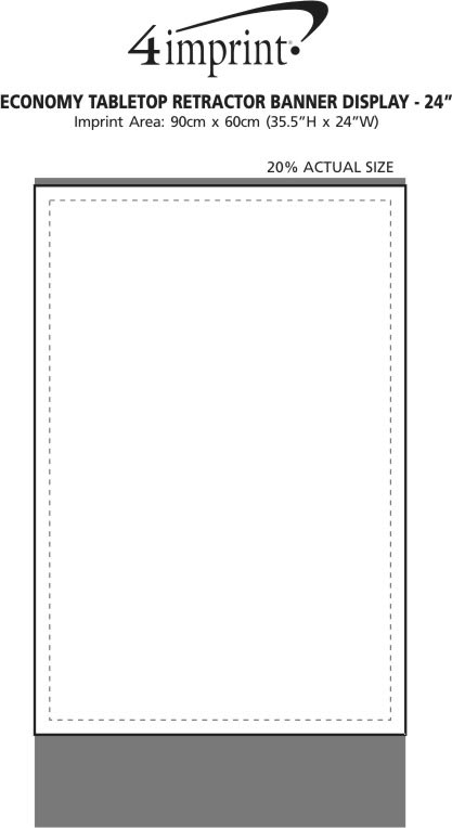 "Imprint Area of Economy Tabletop Retractor Banner Display - 24"""