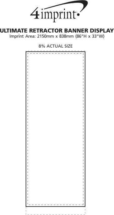 Imprint Area of Ultimate Retractor Banner Display
