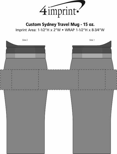 Imprint Area of Sydney Travel Tumbler - 15 oz.