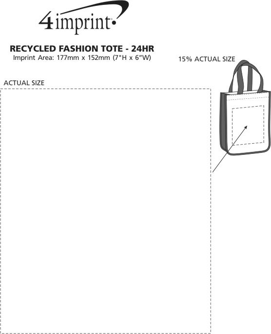 Imprint Area of Laminated Fashion Tote - 24 hr