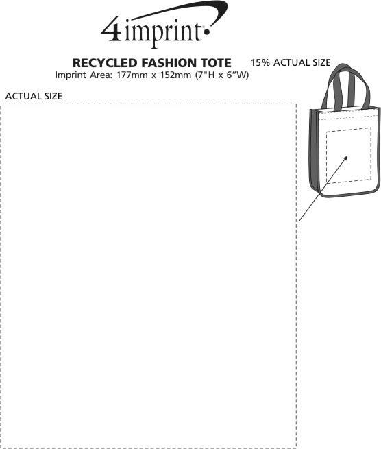 Imprint Area of Laminated Fashion Tote