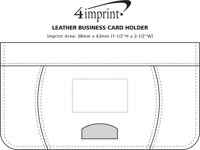 Imprint Area of Leather Business Card Holder