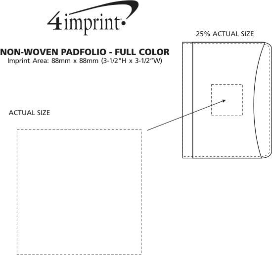 Imprint Area of Non-Woven Padfolio - Full Colour