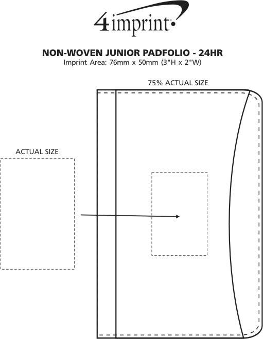 Imprint Area of Non-Woven Junior Padfolio - 24 hr