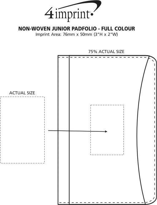 Imprint Area of Non-Woven Junior Padfolio - Full Colour