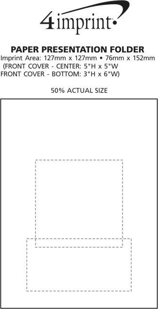Imprint Area of Paper Presentation Folder - Gloss