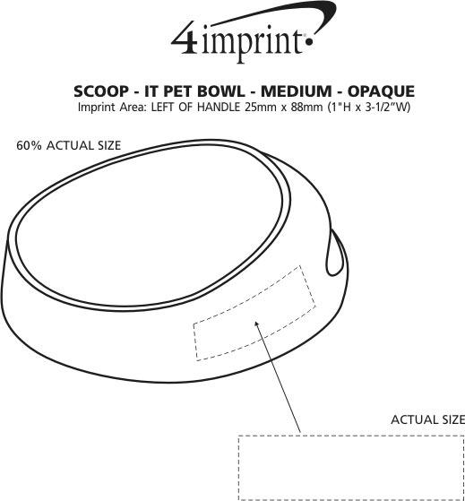 Imprint Area of Scoop-it Bowl - Medium - Opaque