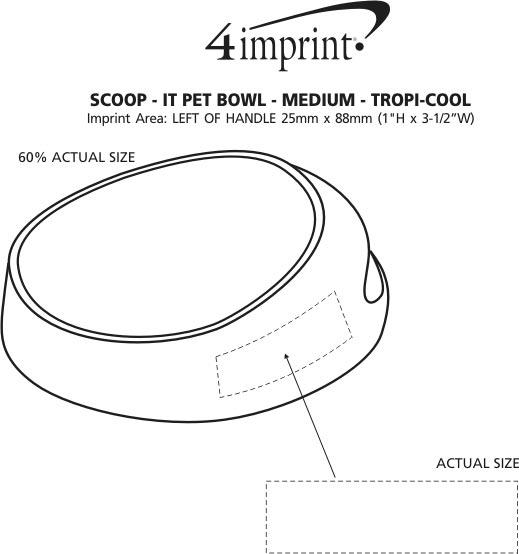 Imprint Area of Scoop-it Bowl - Medium - Translucent