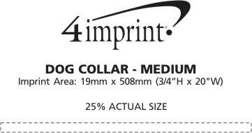 Imprint Area of Dog Collar - Medium