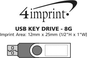 Imprint Area of USB Swing Drive - 8GB