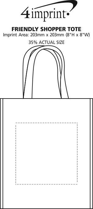 Imprint Area of Friendly Shopper Tote