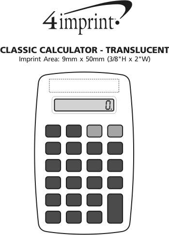 Imprint Area of Classic Calculator - Translucent