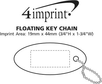 Imprint Area of Floating Keychain