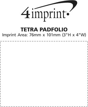 Imprint Area of Tetra Padfolio