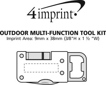Imprint Area of Outdoor Multifunction Tool Kit