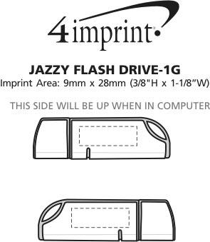 Imprint Area of Jazzy Flash Drive - 1GB