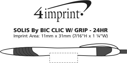 Imprint Area of Solis Clic with Grip - White - 24 hr