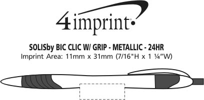 Imprint Area of Solis Clic with Grip - Metallic - 24 hr