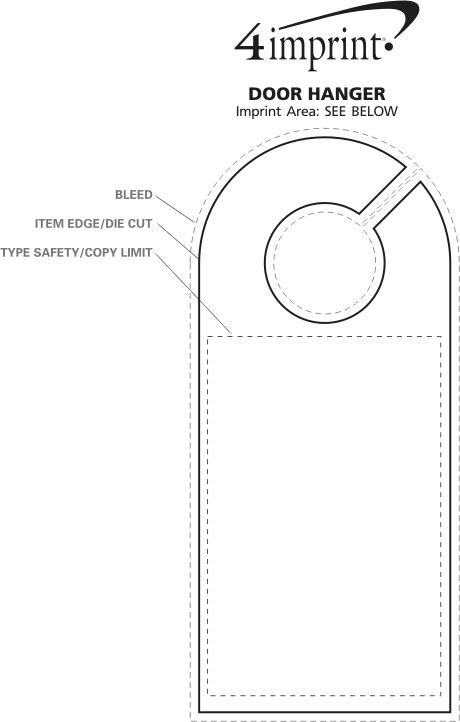 Imprint Area of Door Hanger
