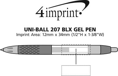 Imprint Area of uni-ball 207 BLX Gel Pen