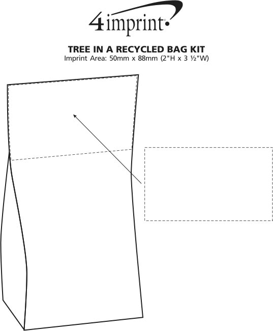 Imprint Area of Plant in a Recycled Bag Kit