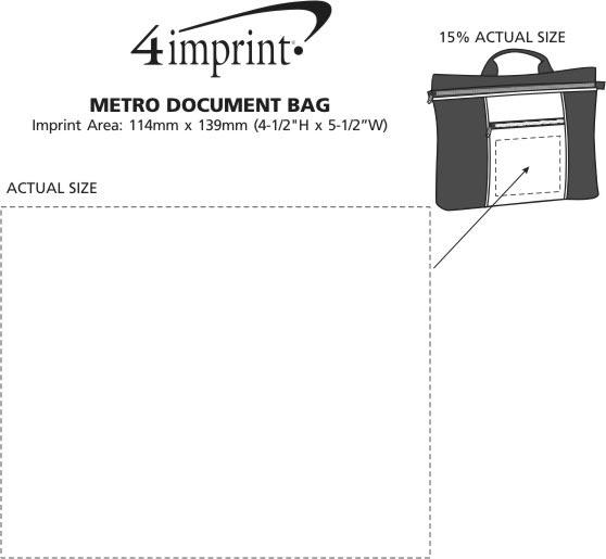 Imprint Area of Metro Document Bag