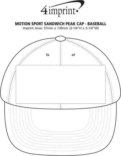 Imprint Area of Motion Sport Sandwich Peak Cap - Baseball