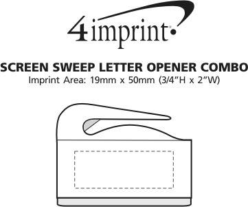 Imprint Area of Screen Sweep Letter Opener Combo