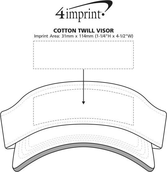 Imprint Area of Cotton Twill Visor