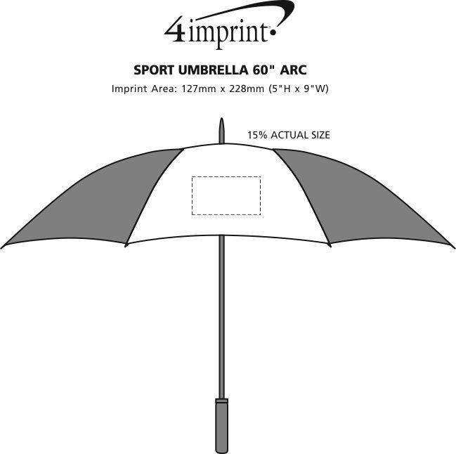 "Imprint Area of Sport Umbrella 60"" Arc"