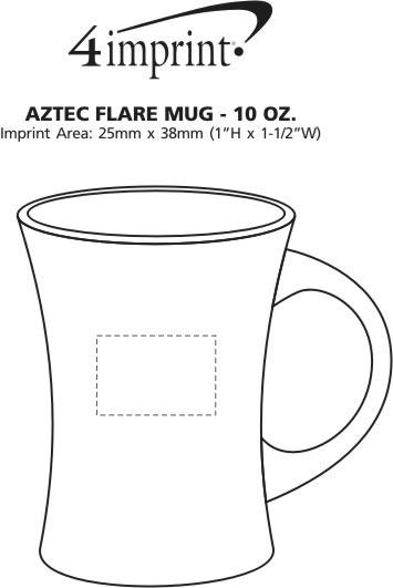 Imprint Area of Aztec Flare Mug - 10 oz.