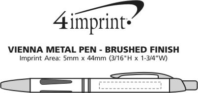Imprint Area of Vienna Metal Pen - Brushed Finish