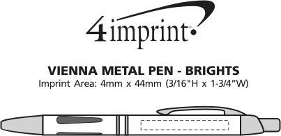 Imprint Area of Vienna Metal Pen - Brights