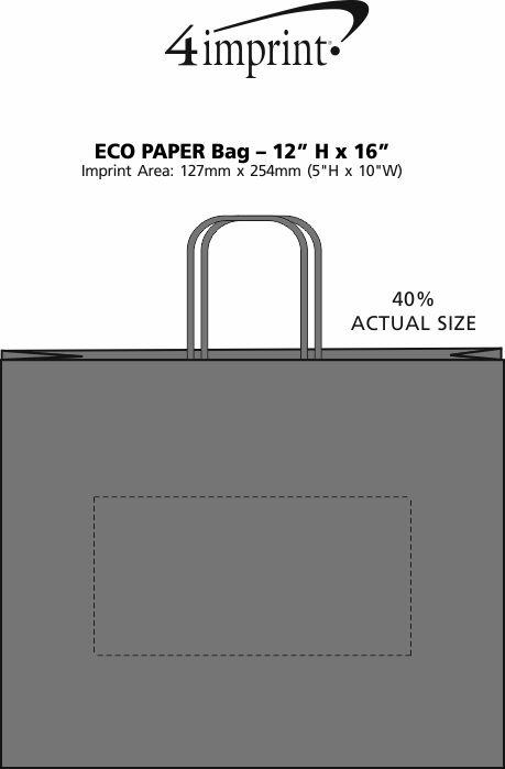 """Imprint Area of Eco Paper Bag - 12"""" x 16"""""""