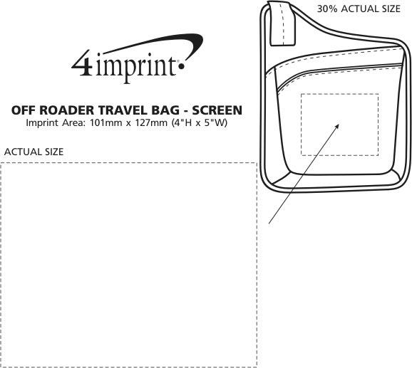 Imprint Area of Off Roader Travel Bag