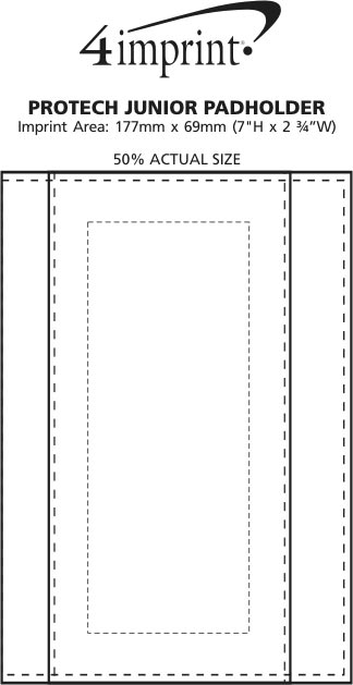 Imprint Area of Pro-Tech Notepad Holder - Junior