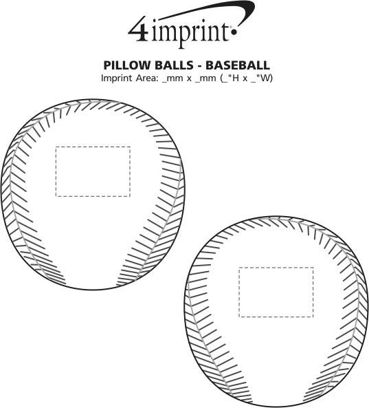 Imprint Area of Pillow Ball - Baseball