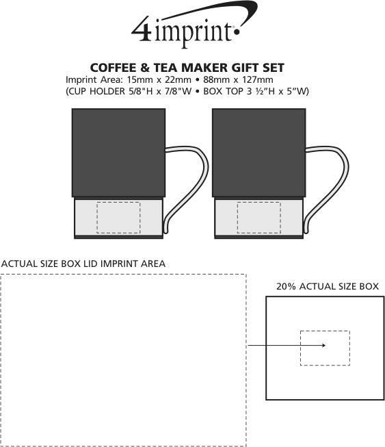 Imprint Area of Coffee and Tea Maker Gift Set