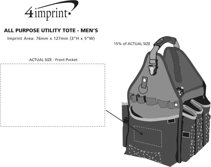 Imprint Area of All Purpose Utility Tote
