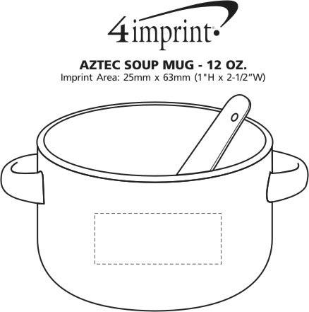 Imprint Area of Aztec Soup Mug - 12 oz.
