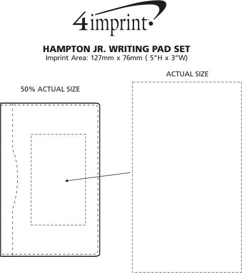 Imprint Area of Hampton Jr. Writing Pad Set