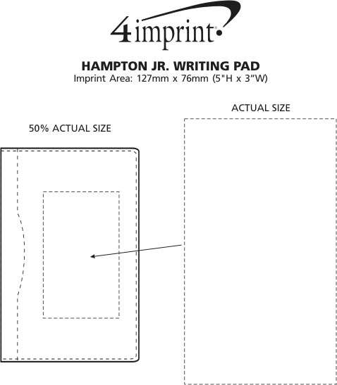 Imprint Area of Hampton Jr. Writing Pad