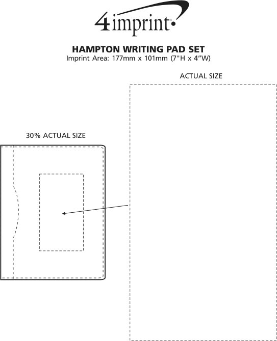 Imprint Area of Hampton Writing Pad Set