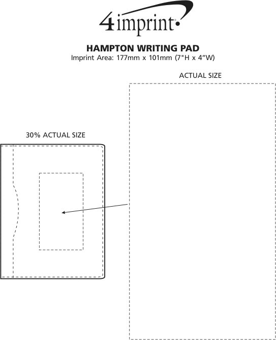Imprint Area of Hampton Writing Pad