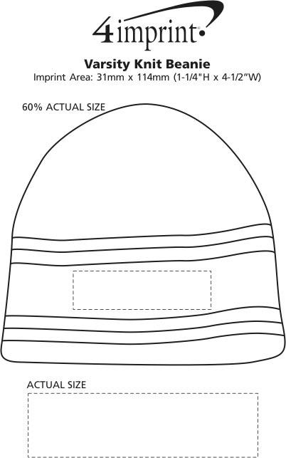 Imprint Area of Varsity Knit Beanie