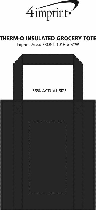 Imprint Area of Therm-O Tote Insulated Grocery Bag