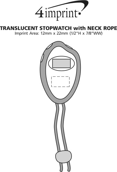 Imprint Area of Translucent Stopwatch with Neck Rope