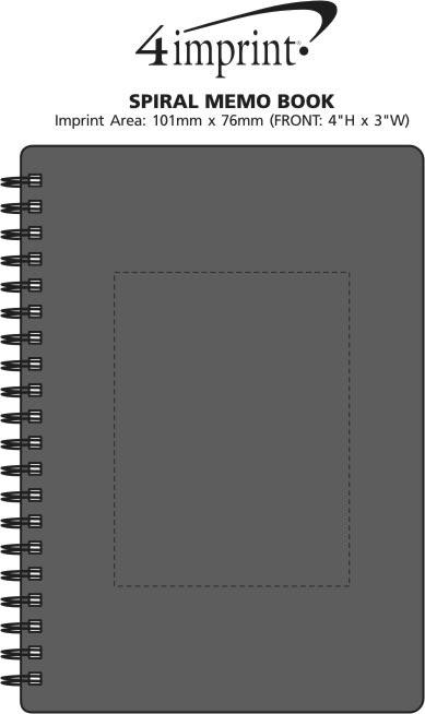 Imprint Area of Spiral Memo Notebook