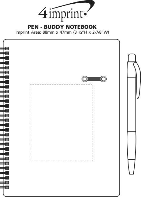 Imprint Area of Pen - Buddy Notebook